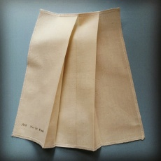 Calico Sample: Knife Pleat